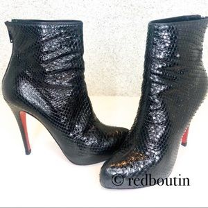 Louboutin Black python Ankle Boots / Booties 39
